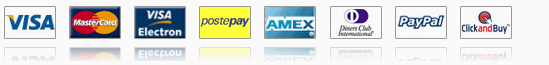 Visa, MasterCard, American Express, Visa Electron, Delta, Paypal, Webmoney